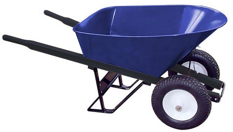 Bon 28 903 Premium Contractor Grade Steel Double Wheel Wheelbarrow