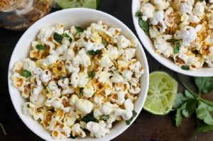 Cilantro and Lime Popcorn