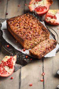 Oatmeal Pomegranate Banana Bread