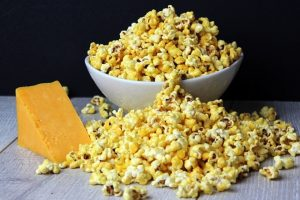 Popcorn with Cheddar Cheese
