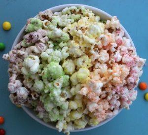 Skittles popcorn