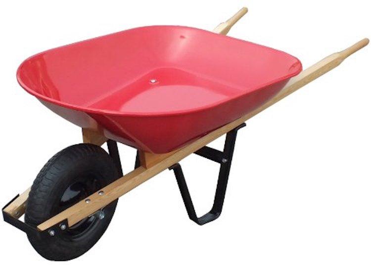 United General WH89685 Steel Tray Wheelbarrow