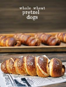 Whole Wheat Pretzel Dogs