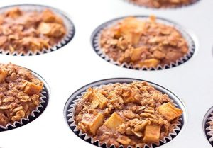 Apple Cinnamon Baked Oatmeal Muffins