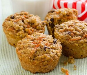 Clean Eating Carrot Oatmeal Muffins