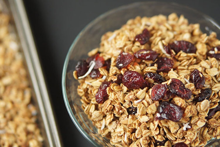 Coconut Cranberry Orange Granola