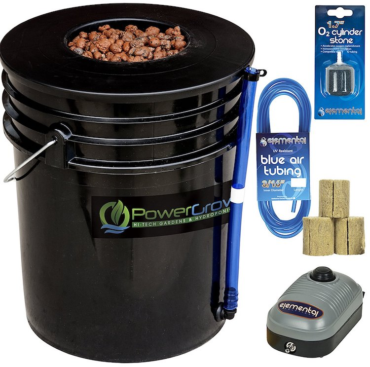 Deep Water Culture (DWC) Hydroponic Bucket Kit