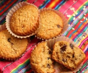 Orange, Oatmeal, and Raisin Muffins
