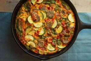 Sausage Pepper & Tomato Frittata