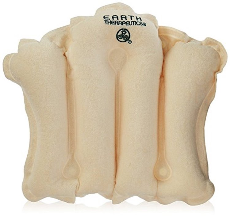Terry Covered Bath Pillow Natural 1 Unit