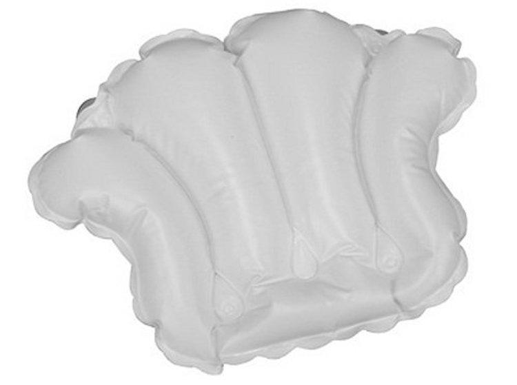 White Vinyl Shell-Shaped Spa Bath Pillow