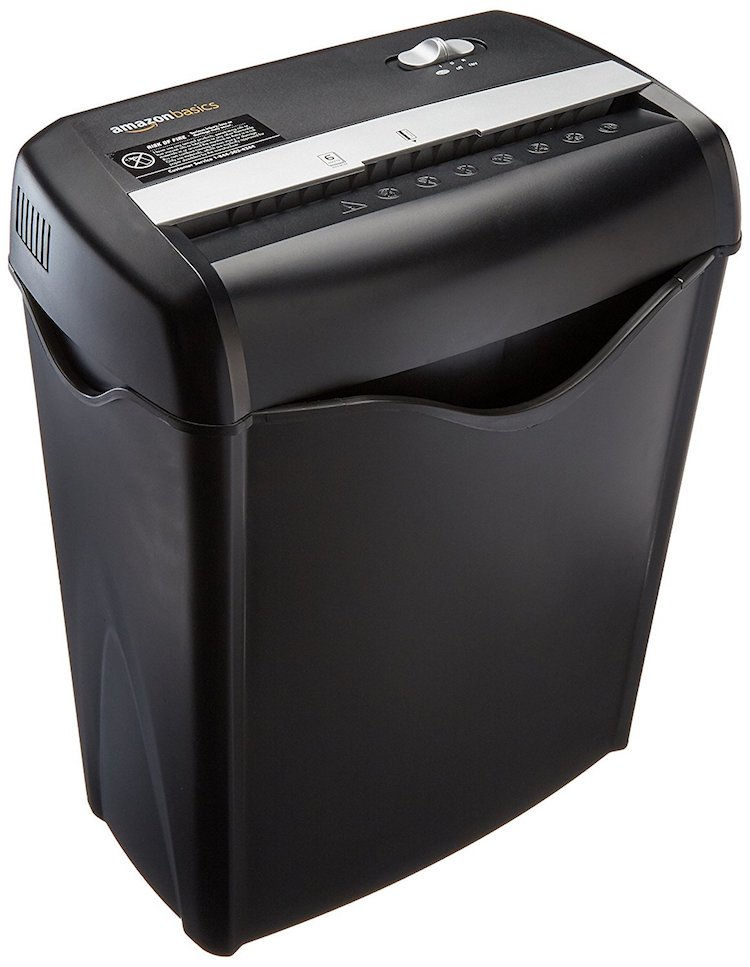 AmazonBasics 6-Sheet Cross-Cut Paper Shredder