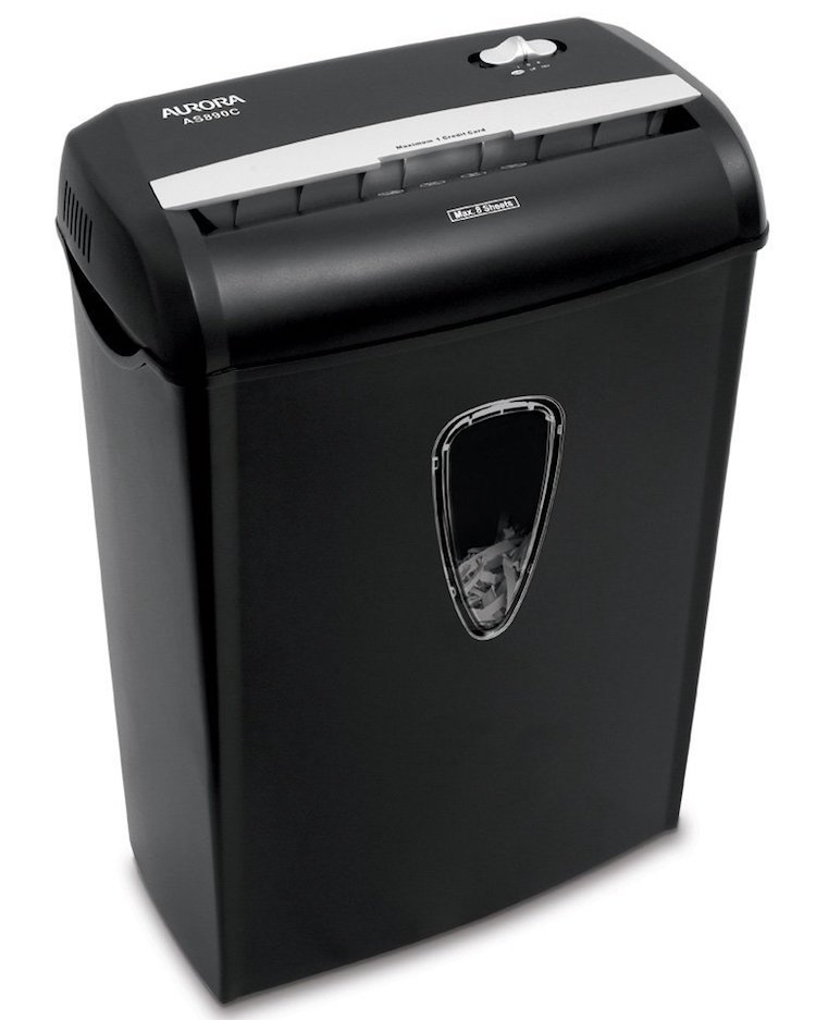 Aurora AS890C 8-Sheet Cross-Cut Paper Shredder