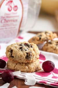 Cranberry Cherry Coconut Oatmeal Cookies