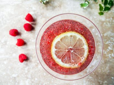 Raspberry chia lemonade is a satisfying thirst-quencher packed with fiber, protein, and healthy fats from chia seeds and Vitamin C from raspberries.   Ideahacks.com
