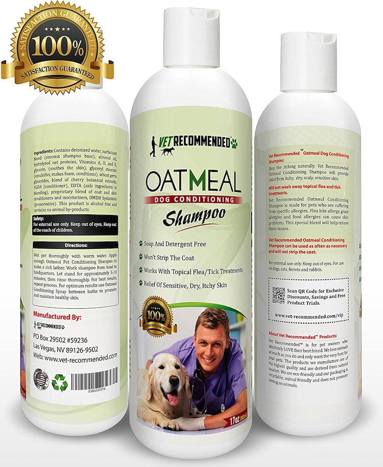 Vet Recommended Oatmeal Dog Shampoo