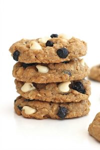 White Chocolate Blueberry Coconut Oatmeal Cookies