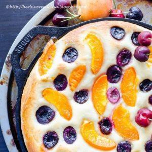 Apricot & Cherry Focaccia