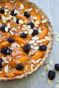 Blackberry Sweet Apricot Tart