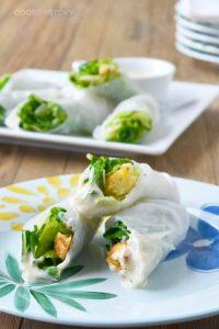 Caesar Salad Spring Rolls