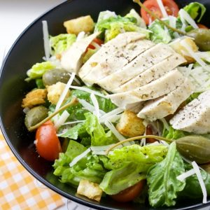 Caesar Salad With Chicken & Caperberries
