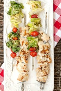 Chicken Caesar Salad Kabobs