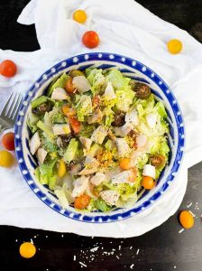 Chicken Couscous Caesar Salad