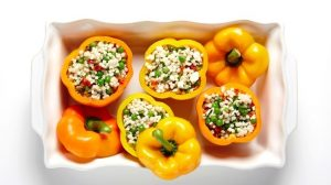Couscous & Herb Stuffed Peppers