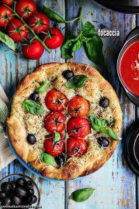 Dutch Oven Tomato Olive Focaccia