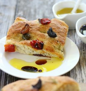 Focaccia With Olives & Rosemary
