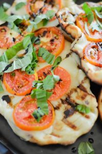 Grilled Caprese Pizza