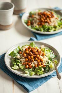 Quinoa Chickpea Caesar Salad