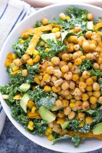 Southwestern Kale Caesar Salad