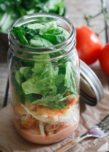 Sriracha Shrimp Caesar Salad