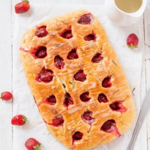Strawberry Rosemary Focaccia