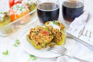 Stuffed Peppers With Spicy Lamb