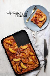 Vanilla Peach Focaccia