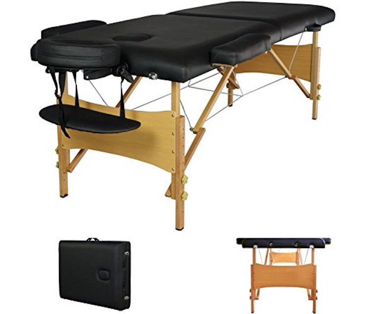 BestMassage Black Portable Massage Table