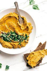 Carrot Walnut Red Lentil Hummus