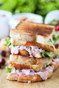Cranberry Cheese Turkey Grilled Cheese