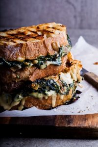 Creamed Spinach Grilled Cheese