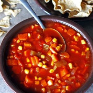 Crockpot Tomato Vegetable Soup