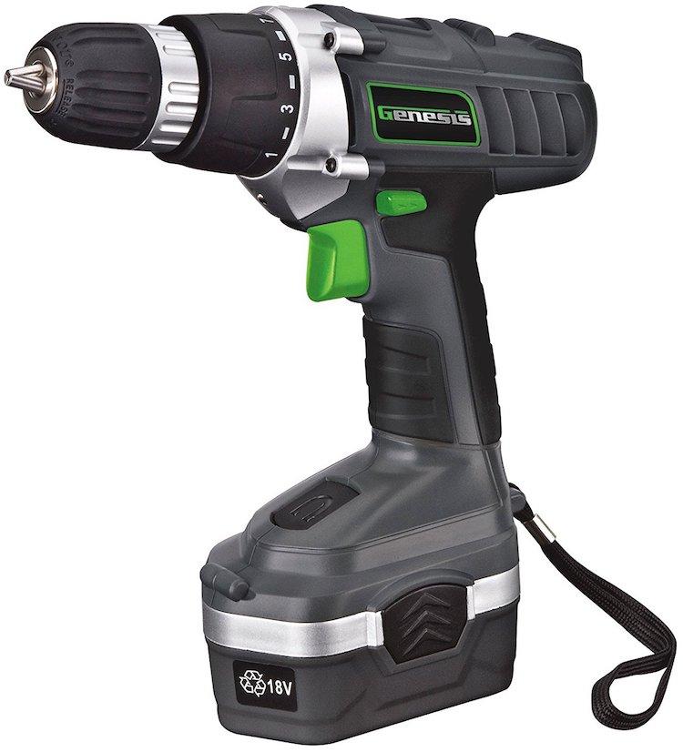 Genesis GCD18BK 18 Volt Cordless Variable Speed Drill