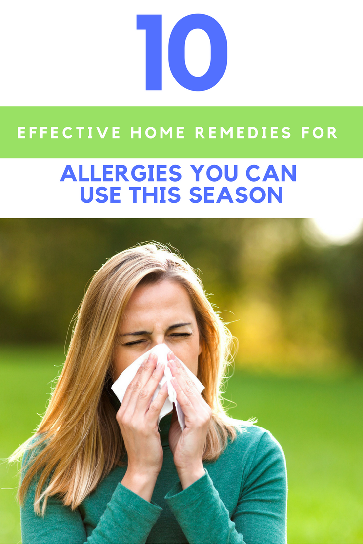 10 Effective Home Remedies for Allergies