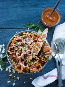 Romesco Sauce Chicken Pasta Dinner