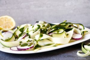 Shaved Zucchini Salad With Cilantro Dressing
