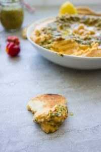 Sweet Potato Hummus With Moroccan Walnut Harissa
