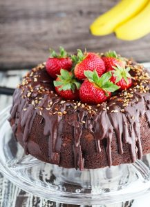 Banana Split Chocolate Bundt Cake