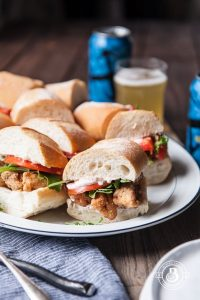 Beer Battered Cod Po'Boy Sliders