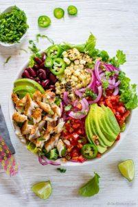 Blackened Taco Fish Salad